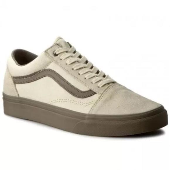 41fe4e27d1f8 New vans old skool cream walnut skate shoes